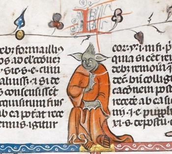 14 Century Manuscript Yoda_考古現在式