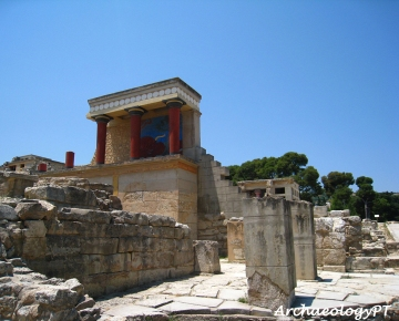 克諾索斯宮殿一景