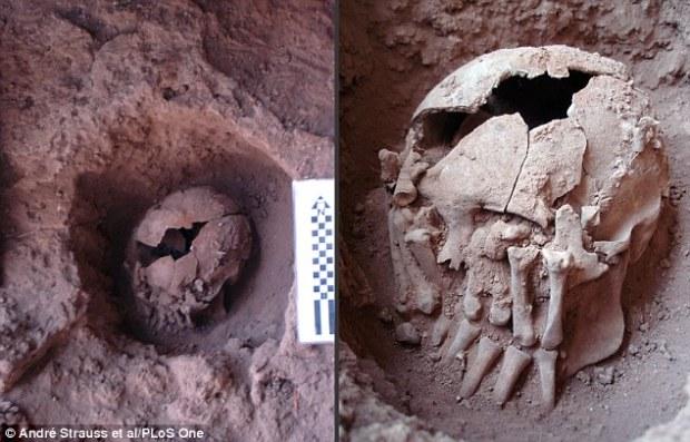 於巴西出土的美洲原住民斬首頭顱,有九千年的歷史。