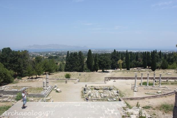 從科斯島醫神神殿眺望遠處